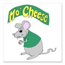 "MoCheese_green_V1 Square Car Magnet 3"" x 3"""