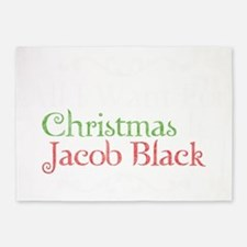 All I Want For Christmas Is Jacob B 5'x7'Area Rug