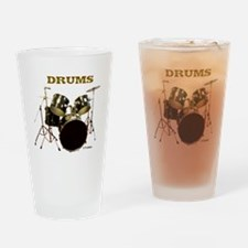 Drum Set IX Drinking Glass