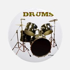 Drum Set IX Round Ornament