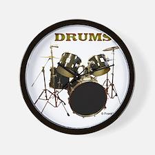 Drum Set IX Wall Clock