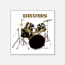 "Drum Set IX Square Sticker 3"" x 3"""