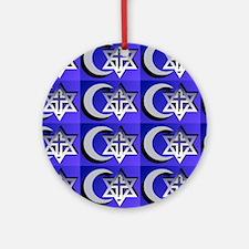 three faiths multi Round Ornament