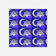 "three faiths multi Square Sticker 3"" x 3"""