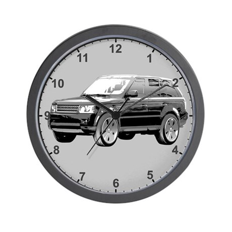 range rover 01 clock wall clock by admin cp10570402. Black Bedroom Furniture Sets. Home Design Ideas