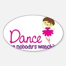 BallerinaBrown Sticker (Oval)