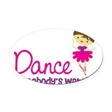 BallerinaBrown Oval Car Magnet