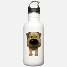 BorderTerrShirtFront Water Bottle