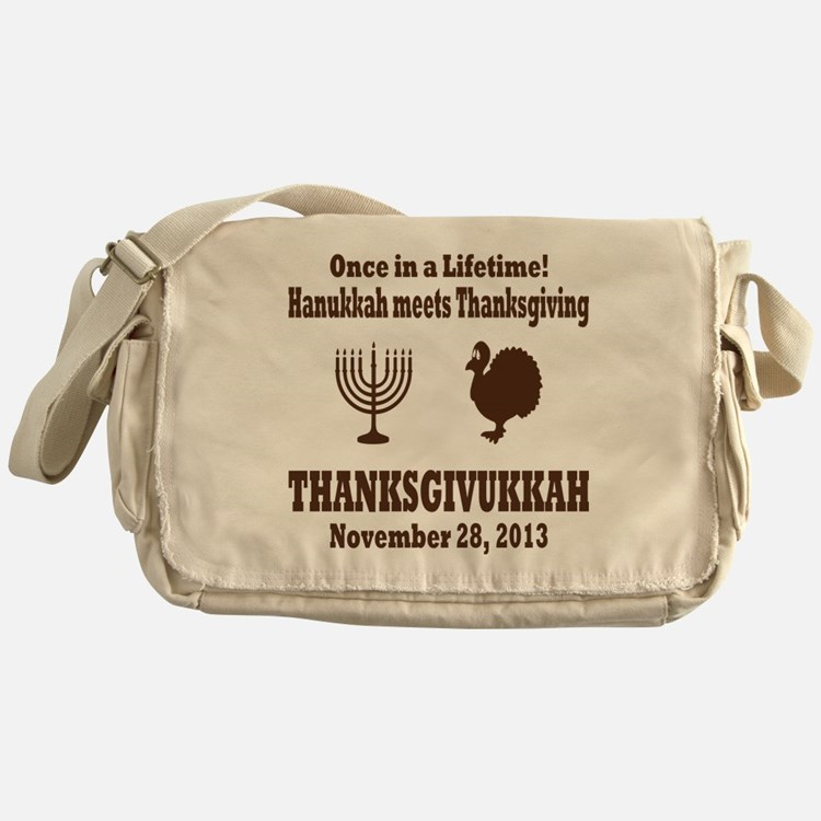 Thanksgivukkah Thanksgiving meets Ha Messenger Bag