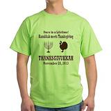 Hanukkah thanksgiving Green T-Shirt
