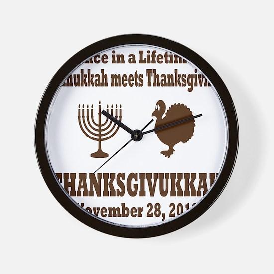 Thanksgivukkah Thanksgiving meets Hanuk Wall Clock