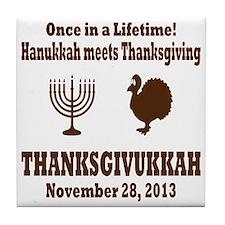 Thanksgivukkah Thanksgiving meets Han Tile Coaster