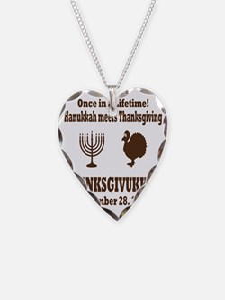 Thanksgivukkah Thanksgiving m Necklace