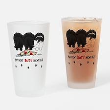 NewfieButtsNew Drinking Glass