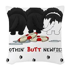 NewfieButtsNew Woven Throw Pillow