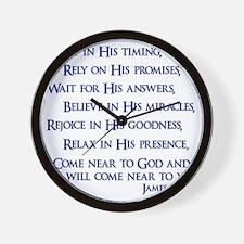 navy, James 4_8 Wall Clock