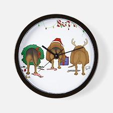 BloodhoundShirtDark Wall Clock