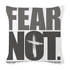 FearNot Woven Throw Pillow