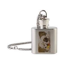 BD pups journal Flask Necklace