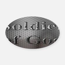 soldier of God license plate Oval Car Magnet