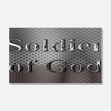 soldier of God license plate Car Magnet 20 x 12