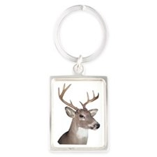 Eight Point Buck Portrait Keychain