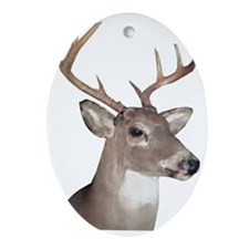 Eight Point Buck Oval Ornament