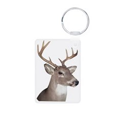 Eight Point Buck Aluminum Photo Keychain