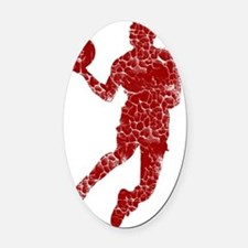 red Oval Car Magnet