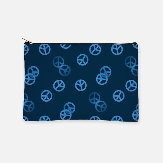 Random Blue Peace Sign Makeup Pouch
