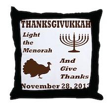 Thanksgivukkah - Thanksgiving meets H Throw Pillow