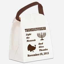 Thanksgivukkah - Thanksgiving mee Canvas Lunch Bag