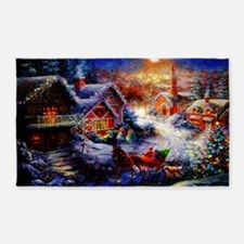 Pastel Christmas Greeting copy 3'x5' Area Rug