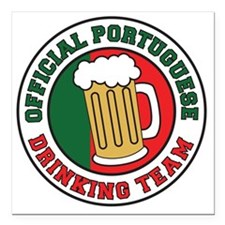 "Portuguese Drinnking Tea Square Car Magnet 3"" x 3"""
