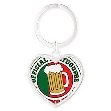Portuguese Drinnking Team Heart Keychain