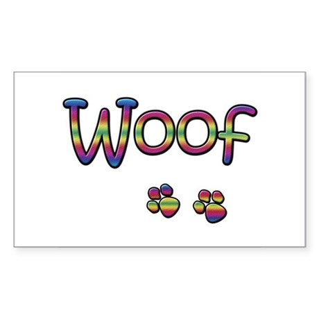 Woof Rectangle Sticker