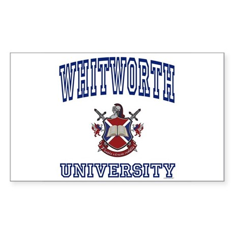 WHITWORTH University Rectangle Sticker