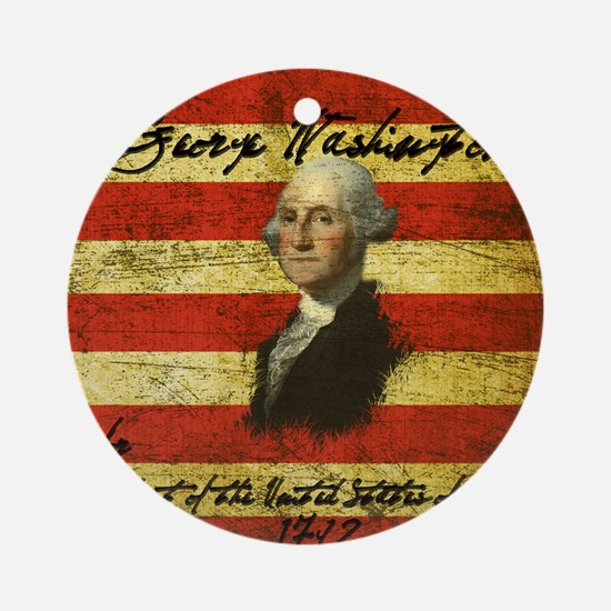 Washington Round Ornament