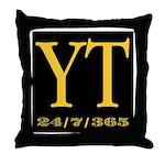 YT 24/7/365 Throw Pillow