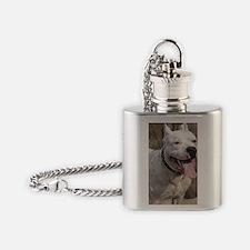 staff paint slider Flask Necklace