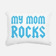 mymomrocksblueCP Rectangular Canvas Pillow