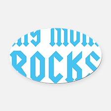 mymomrocksblueCP Oval Car Magnet