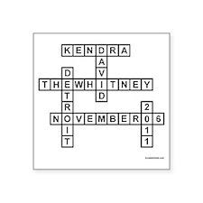 "BYLINA 1 KENDAV Square Sticker 3"" x 3"""