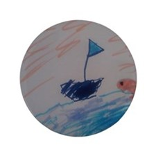 "Sailboat 3.5"" Button"