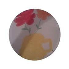 "Flower Pot 3.5"" Button"