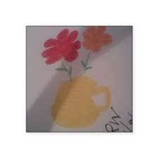 "Flower Pot Square Sticker 3"" x 3"""