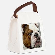 En BD face tile Canvas Lunch Bag
