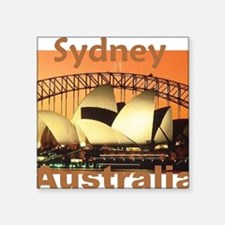 "SYDNEY Square Sticker 3"" x 3"""
