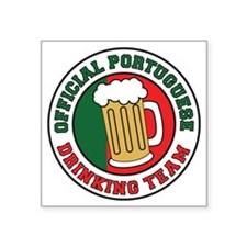 "Portuguese Drinking Team Pi Square Sticker 3"" x 3"""