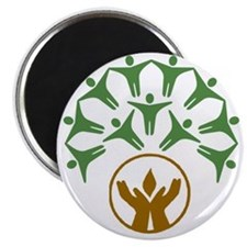 people around hands chalice Magnet